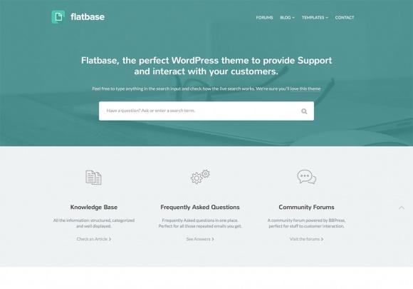 Flatbase responsive WordPress Theme.