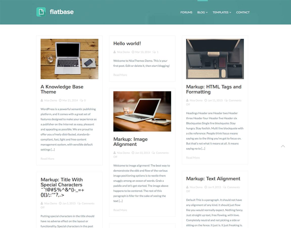 Flatbase Blog Masonry Template.